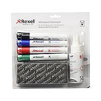 Набор аксессуаров для ухода за маркерной доской Rexel Whiteboard Clean