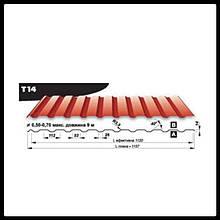 Профнастил Т 14 • Blachy Pruszynski • PEMA RAL 7016 матовый 0,5 мм • Mittal Steel • Польша