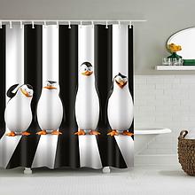 Шторка в ванную «Пингвины» 165×180 см