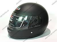 Шлем черный матовый, закрытый CNHF с одним визором, L 59-60 см