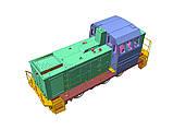 Збірна модель маневрового локомотива серії ТГМ23, масштабу 1/87, H0, фото 3