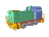 Збірна модель маневрового локомотива серії ТГМ23, масштабу 1/87, H0, фото 2
