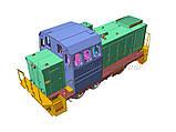 Збірна модель маневрового локомотива серії ТГМ23, масштабу 1/87, H0, фото 4
