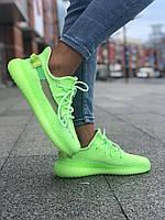 Женские кроссовки Adidas Yeezy Boost 350 \ Адидас Изи Буст 350 Салатовые \ Жіночі кросівки Адідас Ізі Буст 350