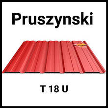 Профнастил для кровли Т-18 Blachy Pruszynski | 0,45 мм | RAL 7024 PEMA | Marcegaglia.