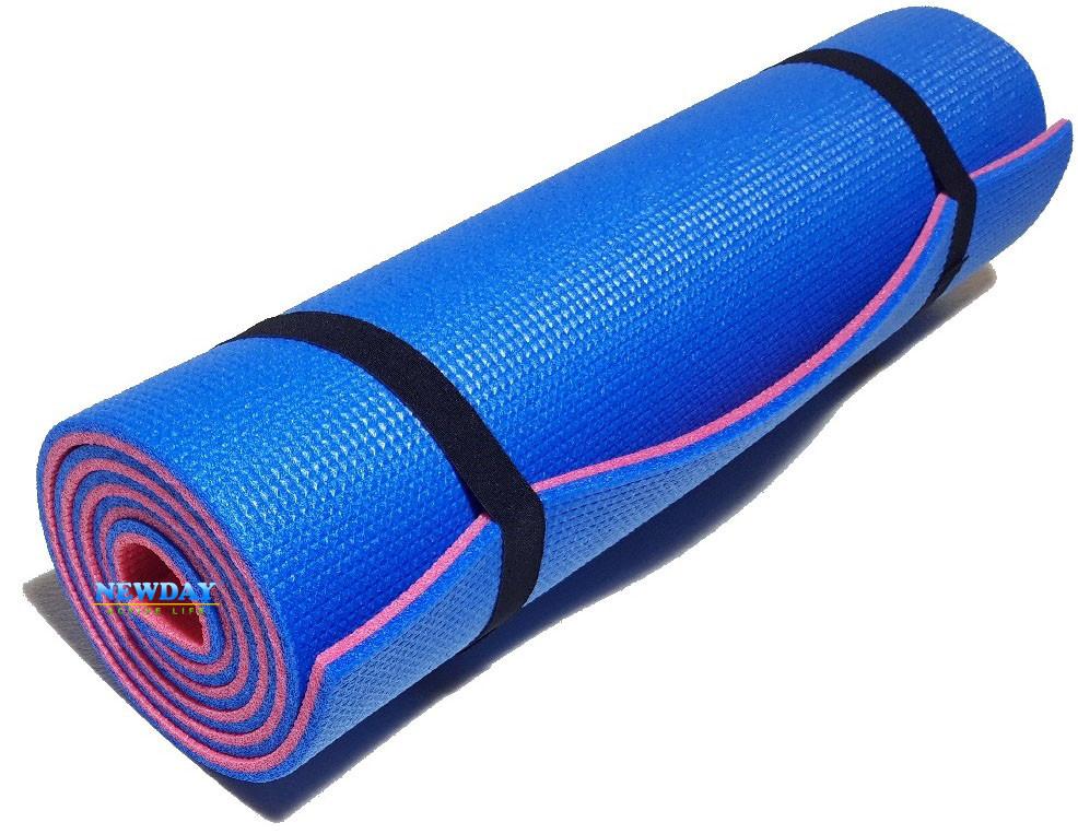 """Коврик для фитнеса 1800×600×8мм, """"Спорт премиум"""", двухслойный, повышенной плотности"""