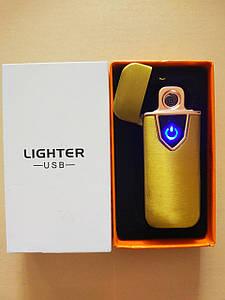 Металлическая USB зажигалка золотая