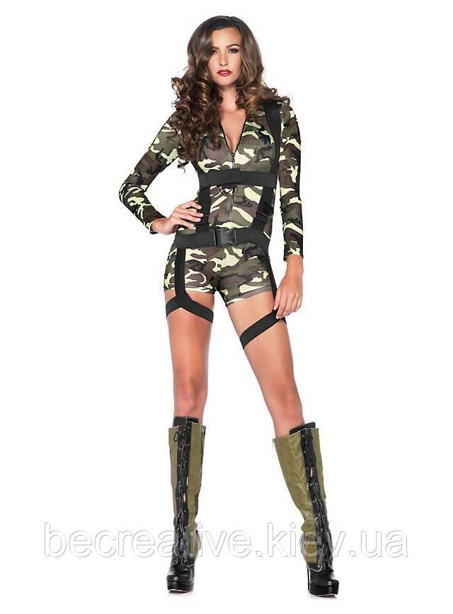 Женский карнавальный армейский костюм