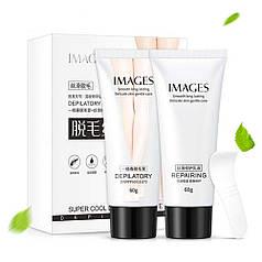 Набор кремов для удаления волос Images Depilatory and Repairing быстрая депиляция тела увлажнение