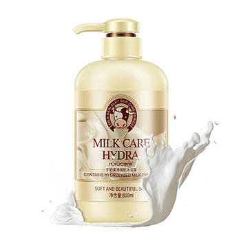 Гель для душа Rorec Body Milk Soft Lotion с протеинами молока увлажняющее 800 мл