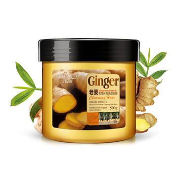 Маска BIOAQUA Ginger Hair Mask для волос укрепляющая с имбирем 500 г Биоаква
