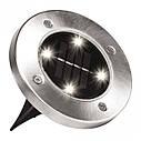Уличный светильник на солнечной батарее Solar Disk Lights, фото 3