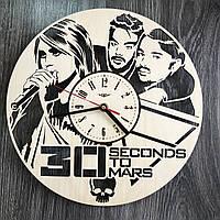 Концептуальные настенные часы 7Arts в интерьер Thirty Seconds to Mars CL-0315, КОД: 1474557
