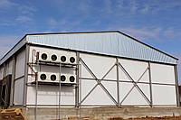 Строительство помещений для охлаждения продукции. Изготовление металлоконструкций из ЛСТК, доставка и монтаж.