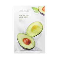 Маска с экстрактом авокадо Nature Republic Real Nature Mask Sheet Avocado