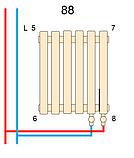 Горизонтальный дизайнерский радиатор Praktikum PV 2 500*1223 13-15 м.кв., фото 4