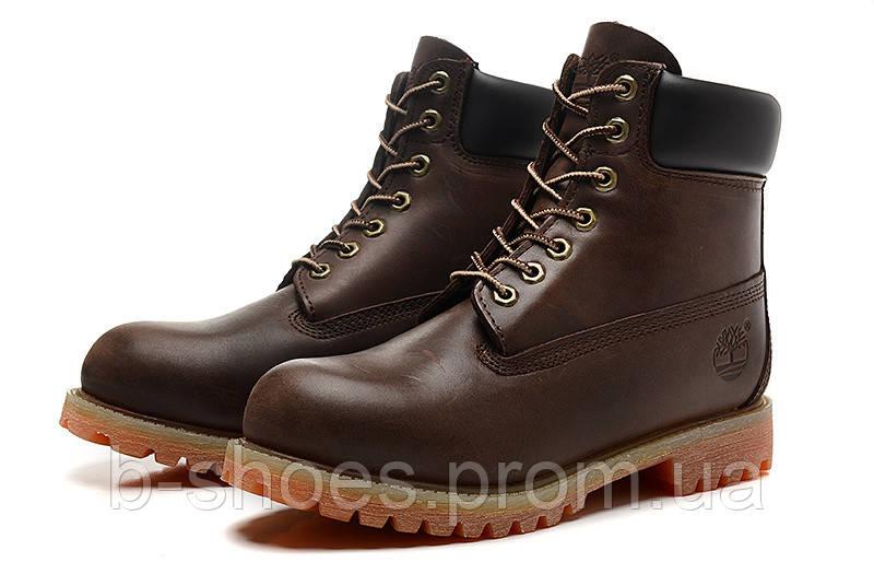 Ботинки мужские Timberland 6-inch Waterproof Boots Dark Brown/Black