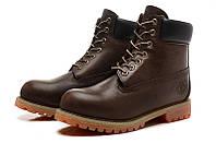 Ботинки мужские Timberland 6-inch Waterproof Boots Dark Brown/Black, фото 1
