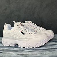 Женские кроссовки белые Фила Дисраптор Filla Disruptor White. Демисезонные кроссы для девушки
