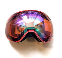 Окуляри лижні Jie Polly Лінза на підставці (МГ-1005-Н) Рожевий корпус, Помаранчева дзеркальна лінза