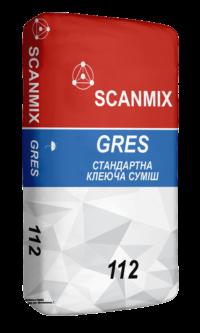 Клей для плитки 112 GRES 25 кг SCANMIX