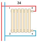 Горизонтальный дизайнерский радиатор Praktikum 2 PH 425*1200 10-12 м.кв., фото 4