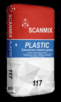 Клей для плитки 117 PLASTIC flexible 25 кг SCANMIX