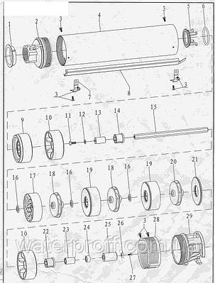 Насос центробежный скважинный 1.5кВт H 101(67)м Q 140(100)л/мин Ø102мм AQUATICA (DONGYIN) (777143), фото 2