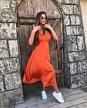 Женское красивое легкое шёлковое миди платье Цвета:беж, темно-синий, сирень, оранжевый