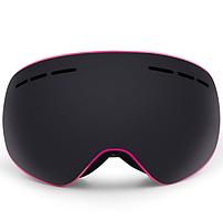 Окуляри лижні Jie Polly Лінза на підставці (МГ-1005-Н) Рожевий корпус, Чорна лінза