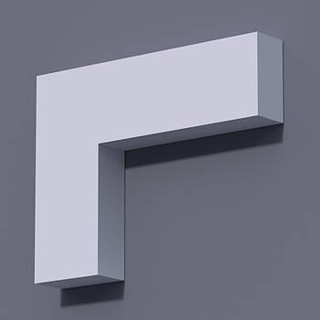 Фасадний молдинг (наличник) Фм-4 (h 100)