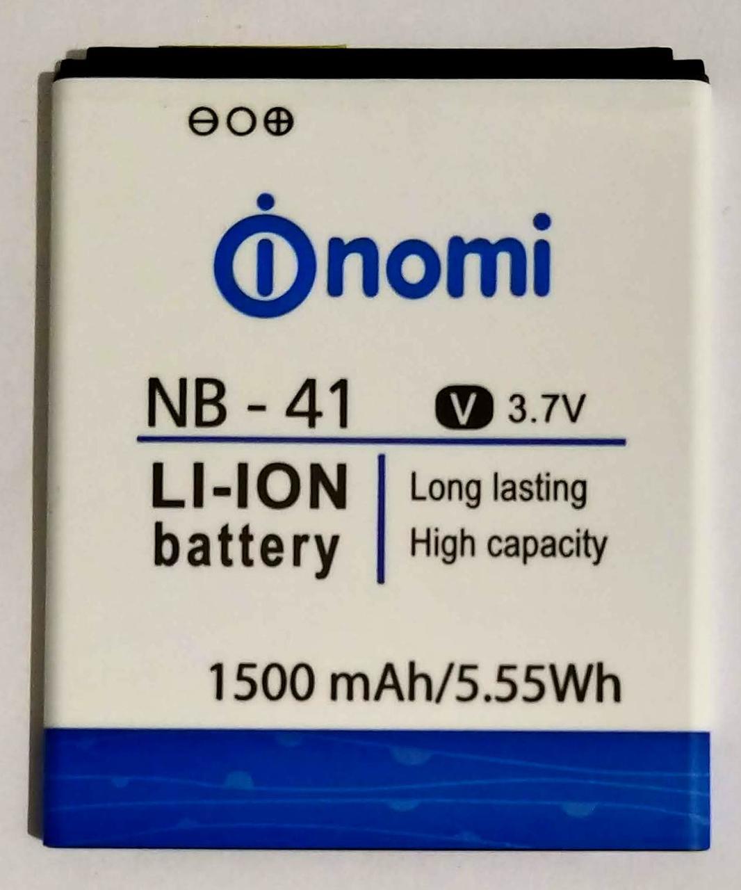 """Акумулятор """"Original"""" для Nomi I400 (NB-41) 1500mAh"""