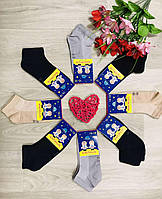 Носки детские летние сетка хлопок Житомир ТМ Крокус размер 18-20 (27-30) микс