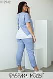 Летний прогулочный костюм голубого цвета  Размеры: 48, 50, 52, 54, 56, фото 3