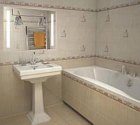 Зеркало для ванной комнаты с LED подсветкой 800*600 с рисунком D36 с включателем кнопкой