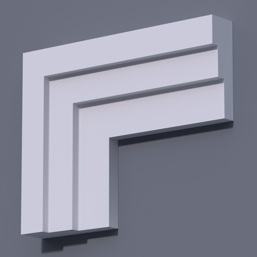 Фасадный молдинг (наличник) Фм-12 (h 150)