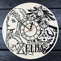 Круглые молодежные настенные часы 7Arts из дерева The Legend of Zelda CL-0405, КОД: 1474531