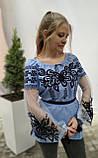 Вишиванка жіноча на домотканому полотні, рукав бохо шифоновий р-ри 42-56, 750/850грн (ціна за 1 шт + 100 грн), фото 7
