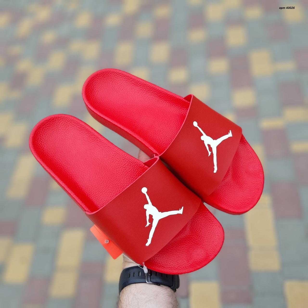 Мужские сланцы Jordan Red, Реплика