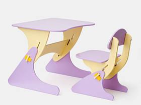 Детский стул и стол сиреневый для детей от 1 года SportBaby