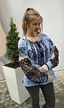 Вишиванка жіноча на домотканому полотні, рукав бохо шифоновий р-ри 42-56, 750/850грн (ціна за 1 шт + 100 грн), фото 3