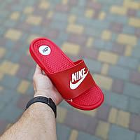 Мужские сланцы Nike Red, Реплика, фото 1