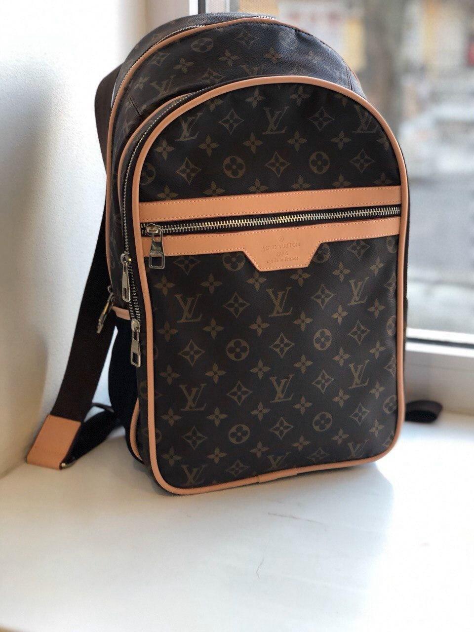 Брендовый рюкзак Louis Vuitton M332 коричневый
