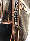 Брендовый рюкзак Louis Vuitton M332 коричневый, фото 4