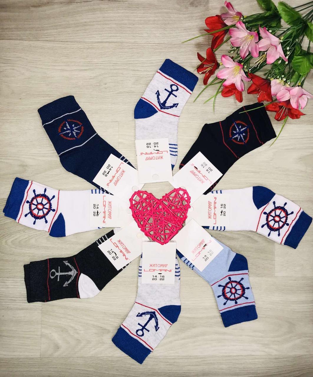Шкарпетки дитячі демісезонні бавовна Житомир ТМ LOMANI розмір 18-20(27-30) асорті