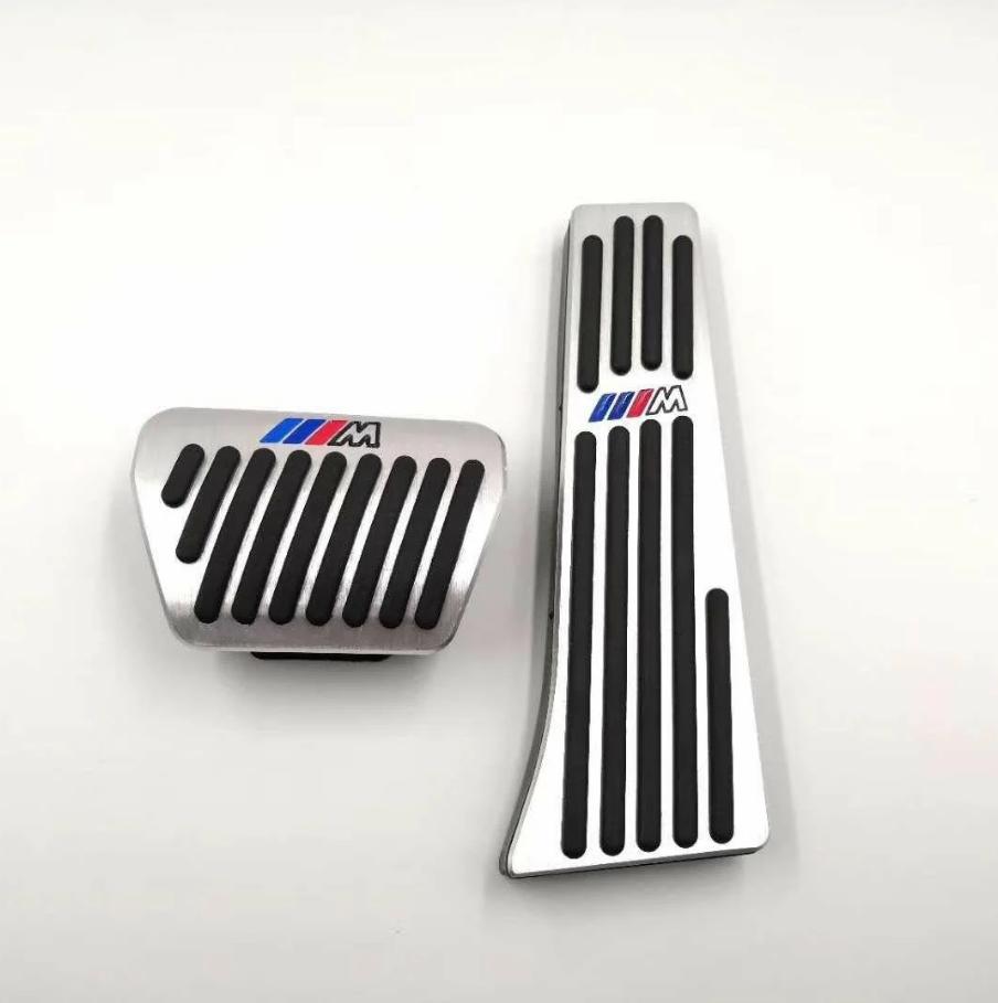 Накладки на педали BMW в стиле ///M 3, 5, 6, 7-й,  X3 и X4, X5 и X6 серии(алюминий, толстый газ)