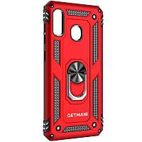 Ударопрочный чехол GETMAN Serge Ring for Magnet для Samsung Galaxy A11 / M11 красный