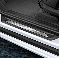 Накладки на пороги BMW M-Performance 2, 3й, X1, X2 серии Travel Edition ( с подсветкой ), 2 штуки
