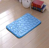 Плюшевый коврик «Галька» 40×60 см синий, фото 2