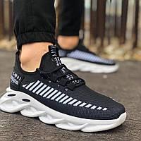 Мужские кроссовки черные сетка MJ 09